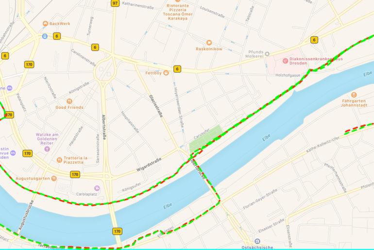 GPS Vergleich Fenix 5S - Forerunner 735
