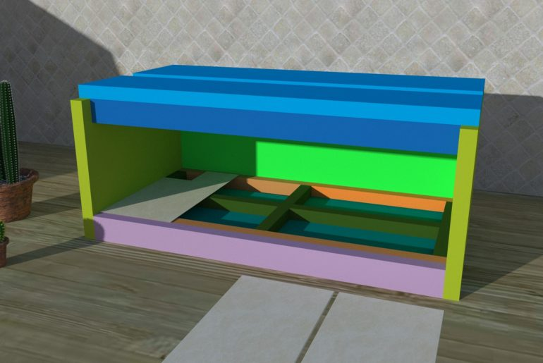 Bild 4: Dach- und Frontblende montiert