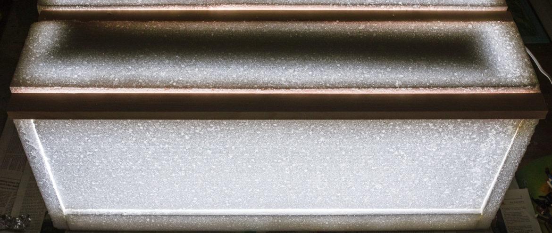 Lichtdurchlässigkeit der Styroporbox